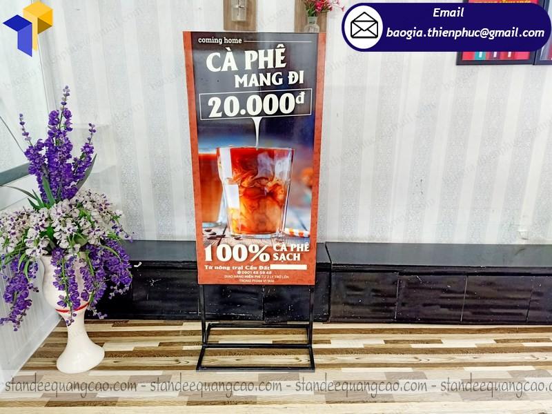 khung sắt standee quảng cáo
