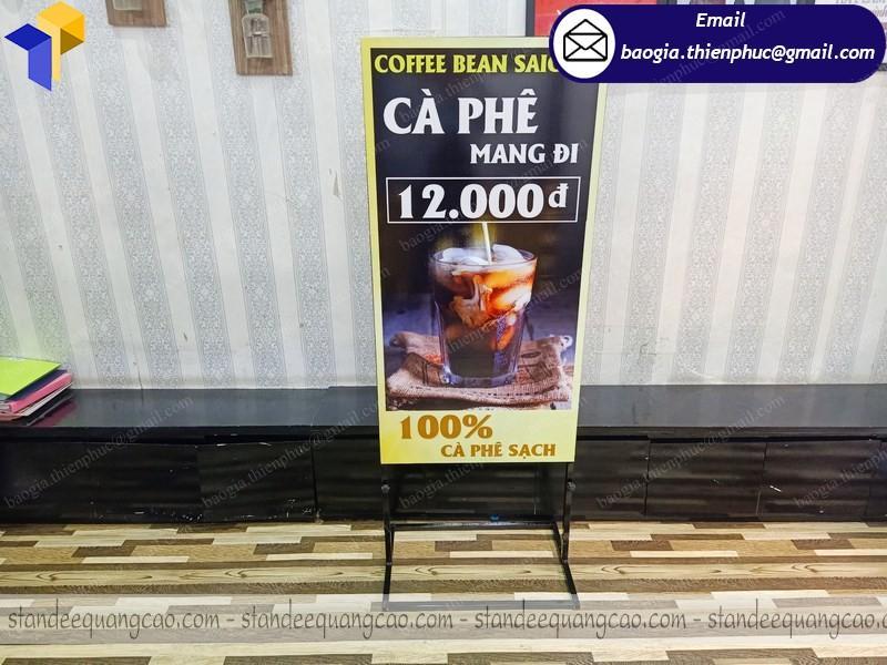 standee 2 mặt quảng cáo quán café